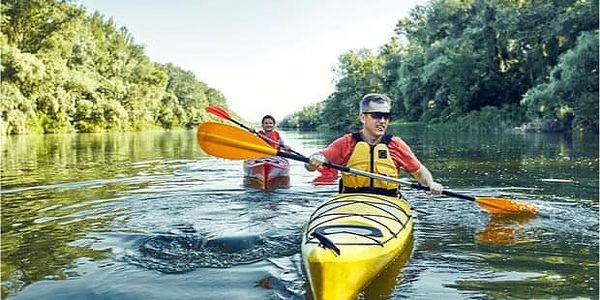 Celodenní plavba na kanoi na řece Sázavě z Prahy