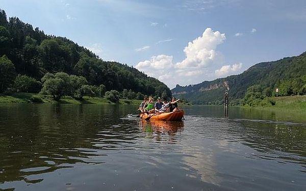 Nafukovacím člunem a na kole Českým Švýcarskem z Děčína