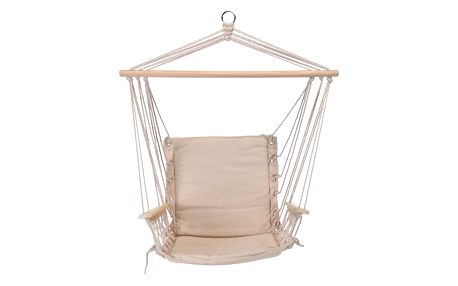 Závěsné houpací křeslo Comfortable béžová, 100 x 53 cm