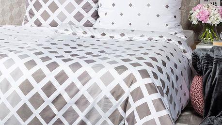 4Home Povlečení Geometric šedá micro, 140 x 220 cm, 70 x 90 cm