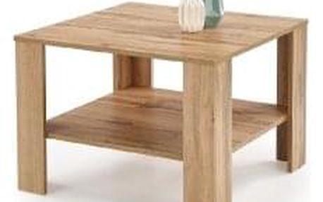 Konferenční stolek Kwadro, čtverec, dub wotan