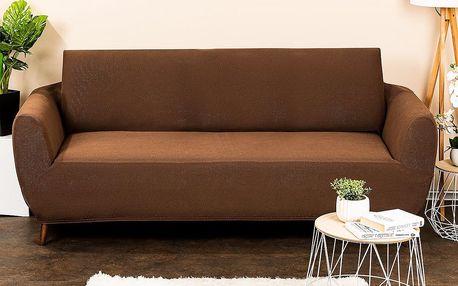 4Home Multielastický potah na sedací soupravu Comfort hnědá, 180 - 220 cm