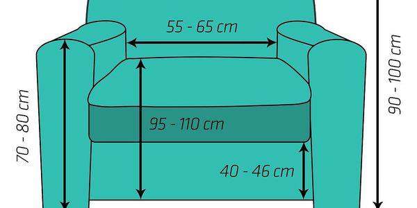 4Home Multielastický potah na křeslo Comfort Plus šedá, 70 - 110 cm, 70 - 110 cm2