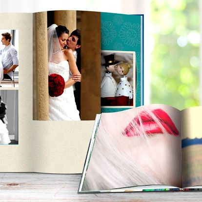 Šité fotoknihy: A4 na výšku a čtvercové