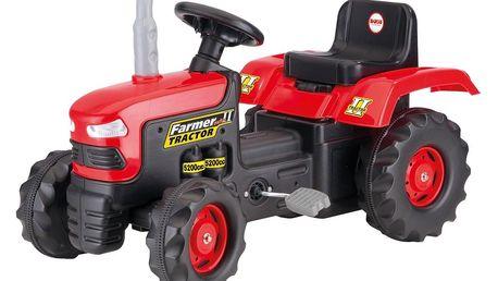 Dolu Velký šlapací traktor,červený