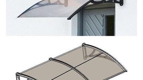 Aldo Dveřní vchodová stříška hnědá, 100 x 200 cm