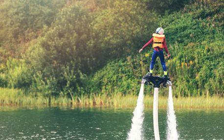 Flyboard: instruktáž, pomůcky a 10min. let na Orlíku