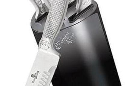 BERLINGERHAUS Sada nožů ve stojanu Black Silver Metallic Line BH-2283 6 ks