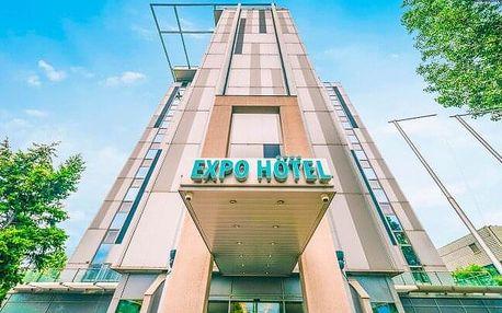Budapešť nedaleko centra v Expo Congress Hotelu **** se snídaněmi, welcome drinkem a vstupem do fitness