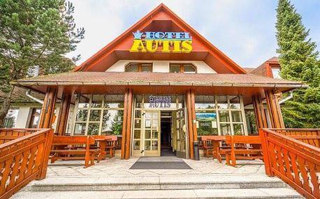 Vysoké Tatry blízko Starého Smokovce v Hotelu Autis *** s polopenzí, saunou a fitness centrem + děti zdarma
