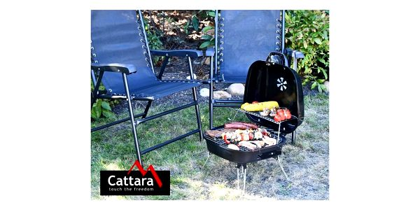 Cattara Skládací gril na dřevěné uhlí Crotone, 45 cm3