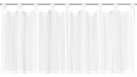 Záclona Krátká Louis, 50/145 Cm, Bílá,šedá