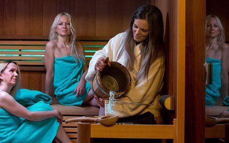 Vstup do saunového světa pro 1 či 2 osoby i kryomasáž