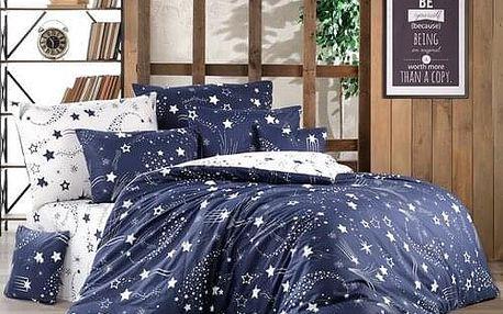 BedTex Bavlněné povlečení Galaxy modrá, 140 x 200 cm, 70 x 90 cm