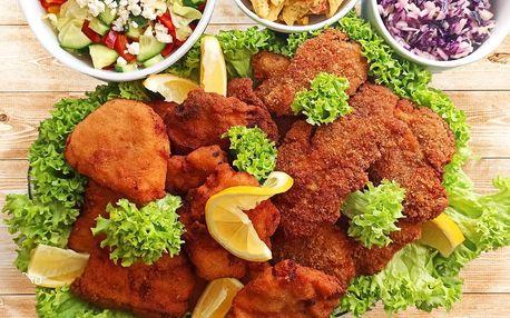 Dva nebo čtyři kg miniřízečků se třemi druhy salátů