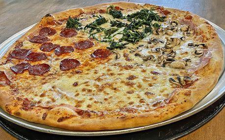 1 či 2 půlmetrové pizzy podle výběru z 24 druhů