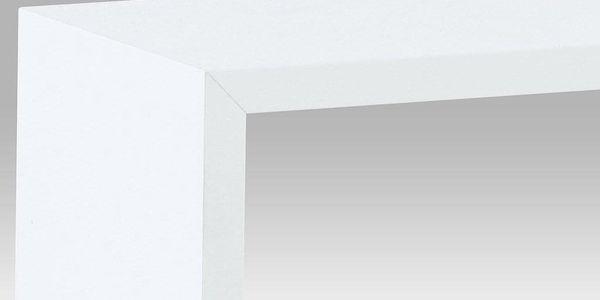 Nástěnná polička, sada 3 ks, barva bílá matná P-008 WT23