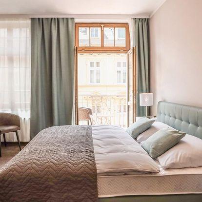 Moderní hotel v Karlových Varech se snídaní
