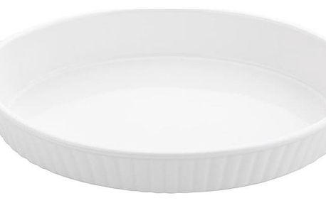 Florina Keramická zapékací mísa oválná 30 cm, bílá