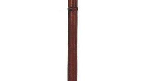 Dřevěný stojanový věšák tmavě hnědá, 52 x 186 cm