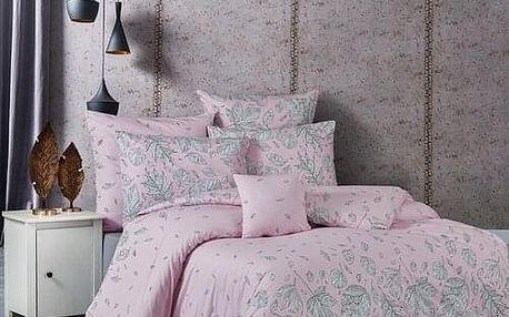 BedTex Bavlněné povlečení Hostid růžová, 140 x 200 cm, 70 x 90 cm