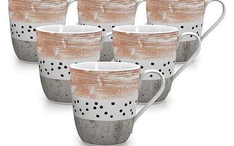 Mäser Sada porcelánových hrnků STRIPES and DOTS 290 ml, 6 ks