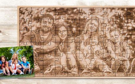 Dřevěné puzzle z fotografie: 60 dílků, 50 x 30 cm
