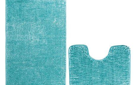 AmeliaHome Sada koupelnových předložek Batimodrá, 2 ks 50 x 80 cm, 40 x 50 cm