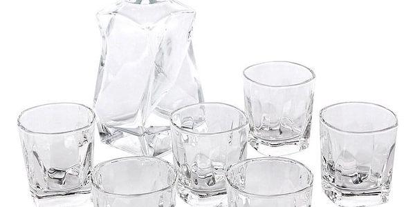 Altom 7dílná sada karafy a sklenic na whisky