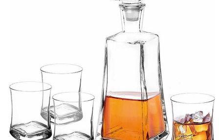 Altom 5dílná sada karafy a sklenic na whisky