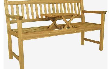 ALDOSRO Dřevěná lavička Eva se stolkem uprostřed