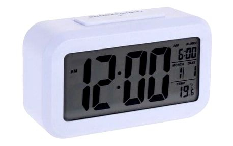 Digitální budík Stanley 14 x 7 cm, bílá
