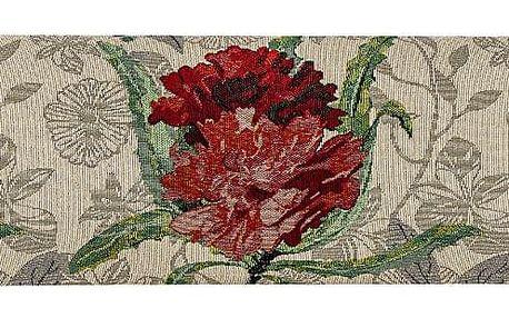 Boma Trading Ozdobný těsnicí polštář do oken Růže červená, 90 x 20 cm