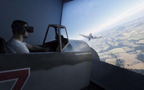 Druhoválečné boje: let Messerschmittem na simulátoru