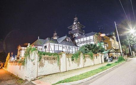 Mariánské Lázně v zámeckém Schlosshotelu Marienbad *** s polopenzí, 3 procedurami a vstupem do bazénu