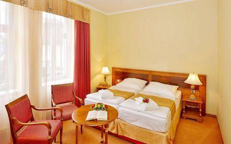 Hotel Continental**** v Mariánkách s polopenzí, wellness a procedurami