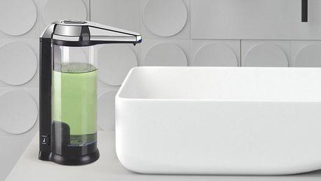 Bezdotykový dávkovač mýdla: stříbrná i černá barva