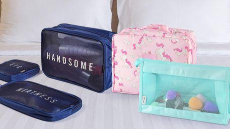 Cestovní kosmetické tašky: s jednorožci i se síťkou