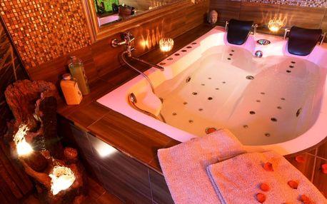 2 h či 1 noc v apartmá s vířivou vanou a saunou