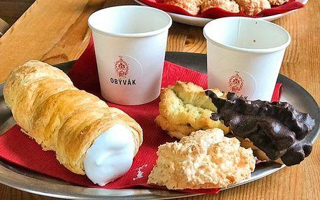 Lahodná káva a k ní zákusek pro 1 i 2 osoby