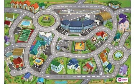 Domarex Dětský kobereček Little Hippo Letiště, 75 x 112 cm