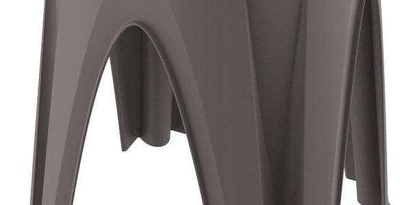 Otočná stolička Girotondo hnědá, 35 x 35 x 45,5 cm
