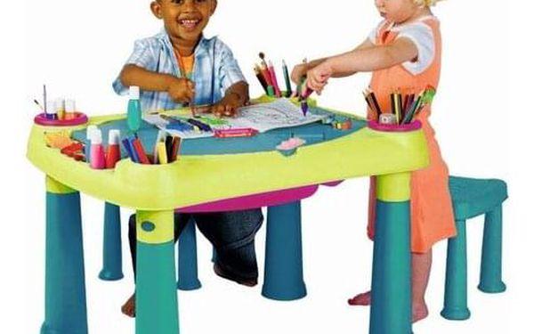 Keter Kreativní hrací stůl se 2 stoličkami2