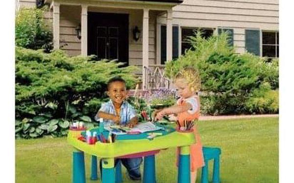 Keter Kreativní hrací stůl se 2 stoličkami3