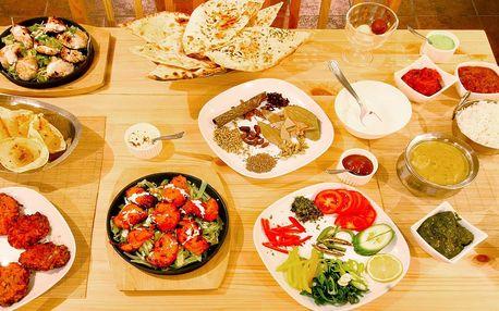 Ochutnejte indii: degustační menu o 8 chodech