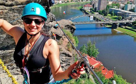 Via Ferrata: lezení po Pastýřské stěně v Děčíně