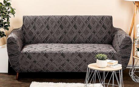 4Home Multielastický potah na sedačku Comfort Plus šedá, 140 - 180 cm, 140 - 180 cm