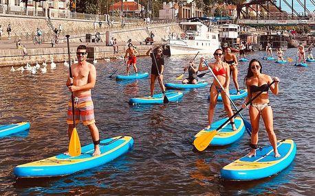 Kurz paddleboardingu na Vltavě pro 1 až 4 osoby