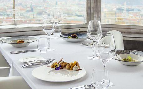 Luxusní 5chodové menu v Žižkovské věži pro dva