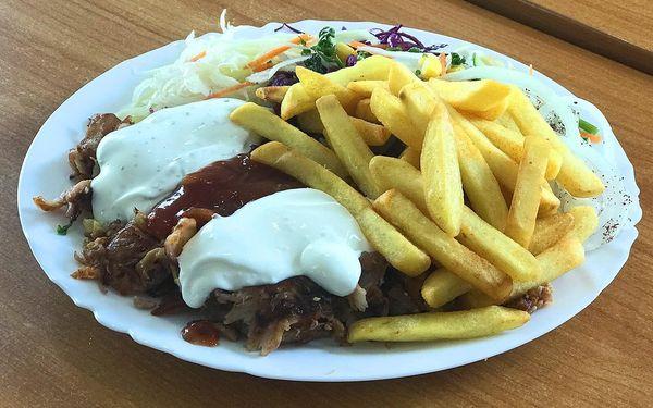 Kebab: döner, box s hranolky i malý či velký talíř
